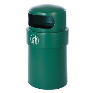 Bird proof plastic litter bin 90L green