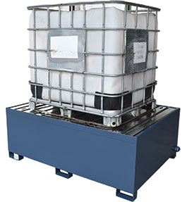 Powder coated steel IBC spill pallet