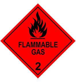 Flammable Gas DG Diamond