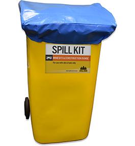 Spill kit wheelie bin lid cover 240L