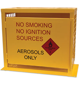 Aerosol can storage cage - 12 can