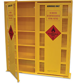 Aerosol Can Safety Storage Cage - 440 can