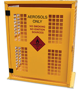 Aerosol can storage cage - 64 can
