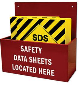 SDS Emergency Information Cabinet