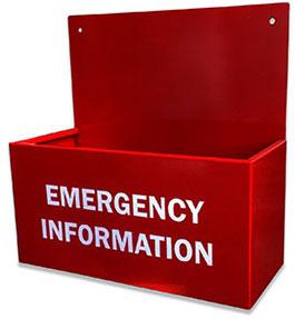 Emergency Information Holder - Indoor