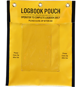 Document log book pouch