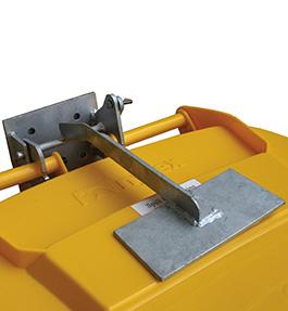Galvanised bin lock