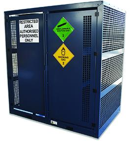 Large Adjustable Gas Cylinder Cage