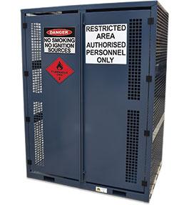 High Pressure Flammable Gas Cylinder Storage Cabinet - 18 bottle