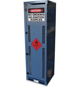High Pressure Flammable Gas Cylinder Storage Cabinet - 4 bottle