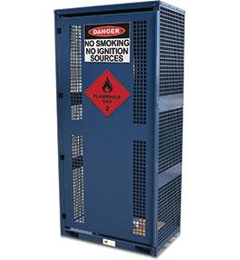 High Pressure Gas Cylinder Storage Cabinet - 6 bottle