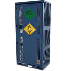 High Pressure Non-Flammable Gas Cylinder Storage Cabinet - 6 bottle
