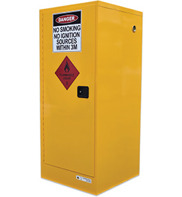 Flammable liquids drum cabinet