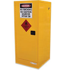 Flammable liquids single door safety cabinet