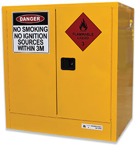 250L wide flammable goods cabinet