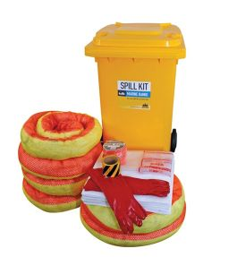 Marine oil and fuel spill kit