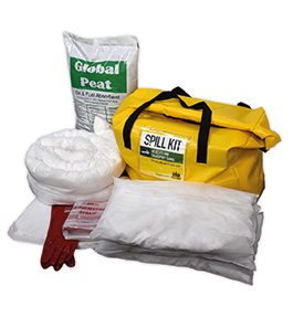 Hydrocarbon vehicle spill kit