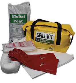 Portable hydrocarbon spill kit