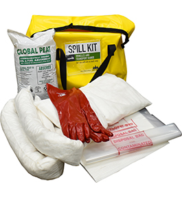 Hydrocarbon bag spill kit