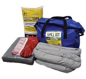 Portable all-liquid spill kit