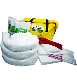Oil and fuel spill kit bag