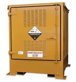 Pallet size outdoor dangerous goods store - 850L Corrosive