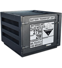 Transportable battery cage