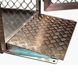 Ramp for gas cylinder storage cage