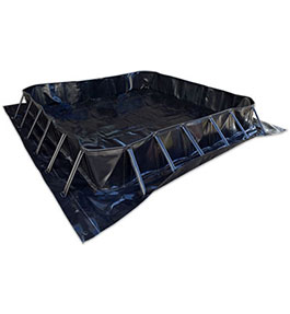 Square temporary collapsible bund