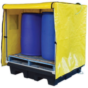 four drum spill pallet cover