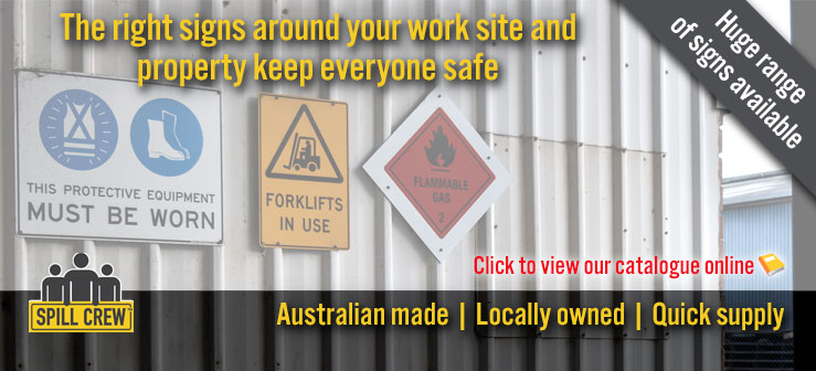 Safety signs banner